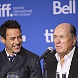 Robert Downey Jr. got a kick out of Robert Duvall at the press event for The Judge.