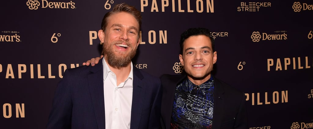 Charlie Hunnam and Rami Malek at Papillon Premiere Aug. 2018