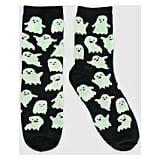Glow-in-the-Dark Ghost Crew Yarns Halloween Socks