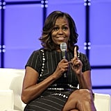 Michelle Obama Pinstripe Dress With Buttons