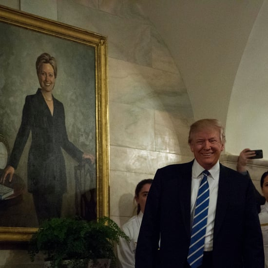 Painting of Hillary Clinton Behind Trump in the White House