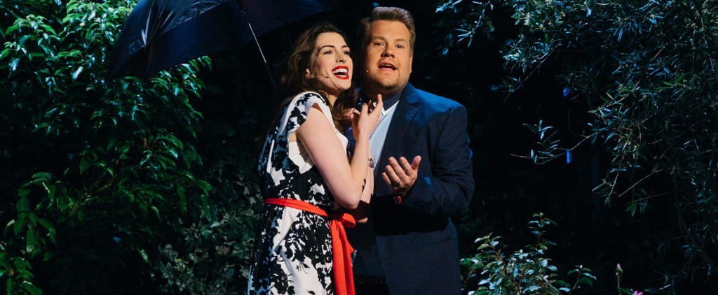Anne Hathaway and James Corden Make Out in an Elevator While Singing Rom-Coms