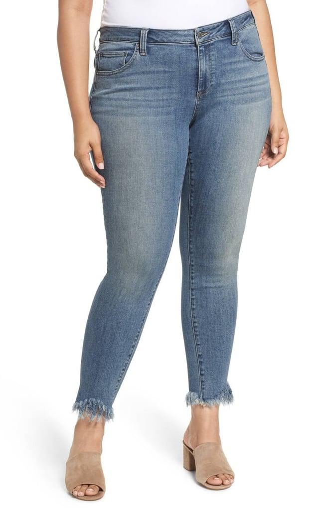 بنطال جينز Ginger ضيّق بنهايات ممزّقة من Lucky Brand