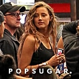 Amber Heard was spotted, with a Steven Soderbergh bonus!