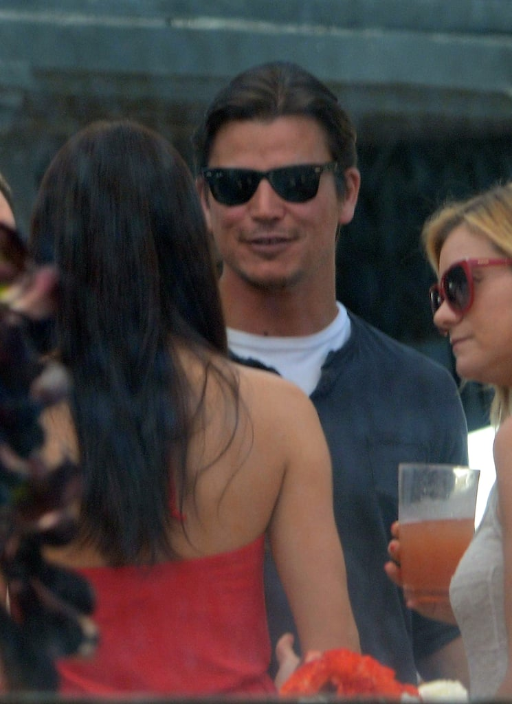 Josh Hartnett hung out at Joel Silver's Memorial Day party in LA.