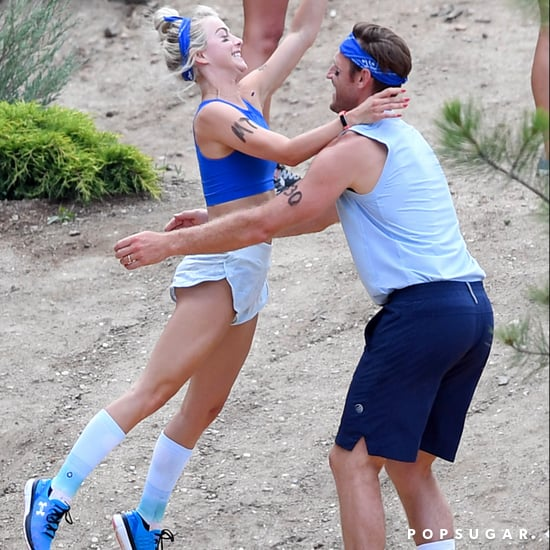 Julianne Hough and Brooks Laich in Relay Race August 2017