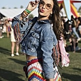 Alessandra Ambrosio hit the festival grounds in 2018.