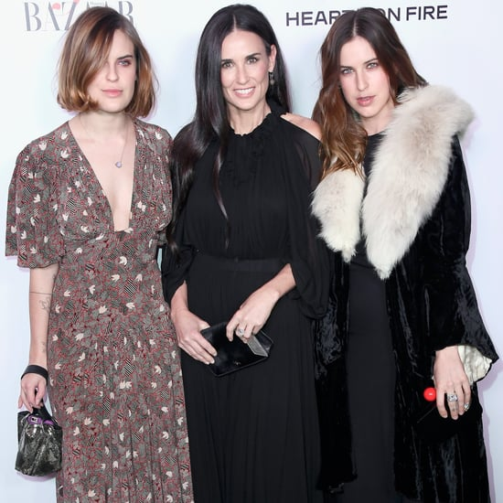 Demi Moore and Daughters at Harper's Bazaar Event Jan. 2017