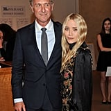 Mary-Kate Olsen posed for a picture with David Katz, the New York Academy of Art's president, at its annual Take Home a Nude benefit.
