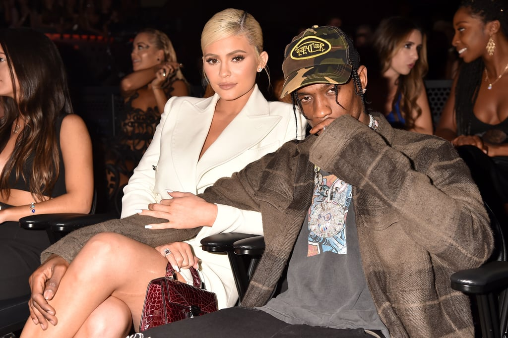 "Kylie Jenner and Travis Scott may have walked the red carpet separately at the MTV VMAs on Monday night, but they definitely stuck together inside. Kylie, who surprised everyone with her minimalist look, sat next to her man in the audience and they linked arms while taking in the ceremony together. Travis also took the stage and performed ""Sicko Mode"" from his latest album Astroworld, marking his first-ever solo VMAs performance. Sadly, baby Stormi didn't make an appearance, but Kylie did share new photos of their daughter for her 21st birthday last week. See more cute moments from Kylie and Travis's night out ahead.       Related:                                                                                                           We Don't Know How It's Possible, but Baby Stormi Gets Cuter and Cuter by the Second"