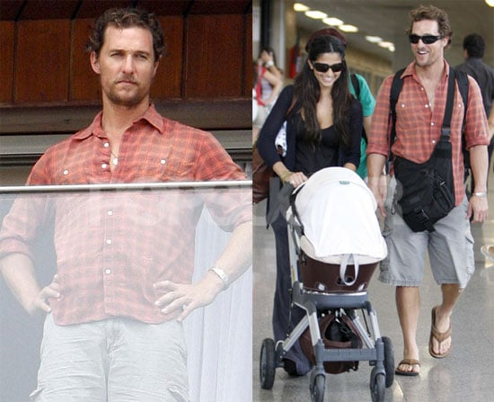 Photos of Matthew McConaughey and Camila Alves With Baby Levi In Brazil