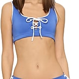 Clover Canyon Solids Lace-Up Bikini Top ($115) and Lace-Up Bottoms ($128)
