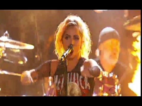 Lady Gaga and Metallica Performing Video at the 2017 Grammys