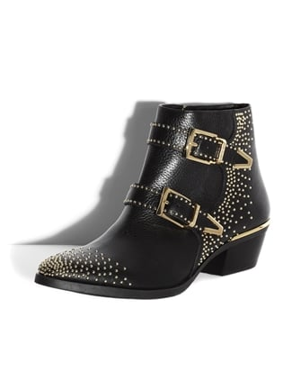 With the gold studs and double buckles, these Vince Camuto Tema Booties ($198) are a dead-ringer for the boots that kick-started the trend (for a lot less).
