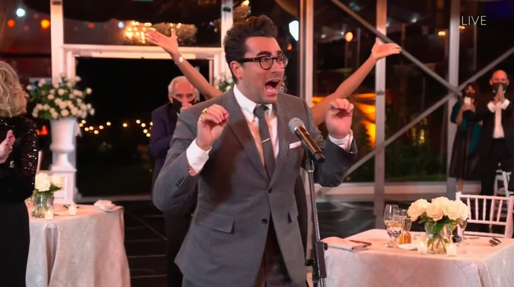 Dan Levy Reacting to Schitt's Creek Wins at the 2020 Emmys