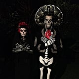 Josh Duhamel shared his spectacular Day of the Dead costume with Fergie on his Instagram. Source: Instagram user joshduhamel