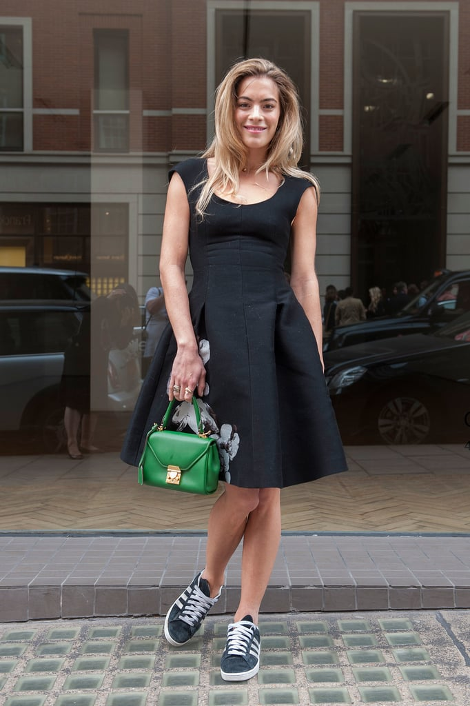 If you want to rock your favourite LBD in the daytime, casual black trainers take away some of the daintiness.