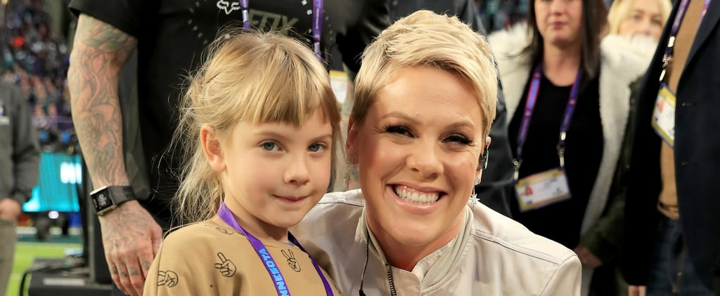 Pink and Her Family at the 2018 Super Bowl