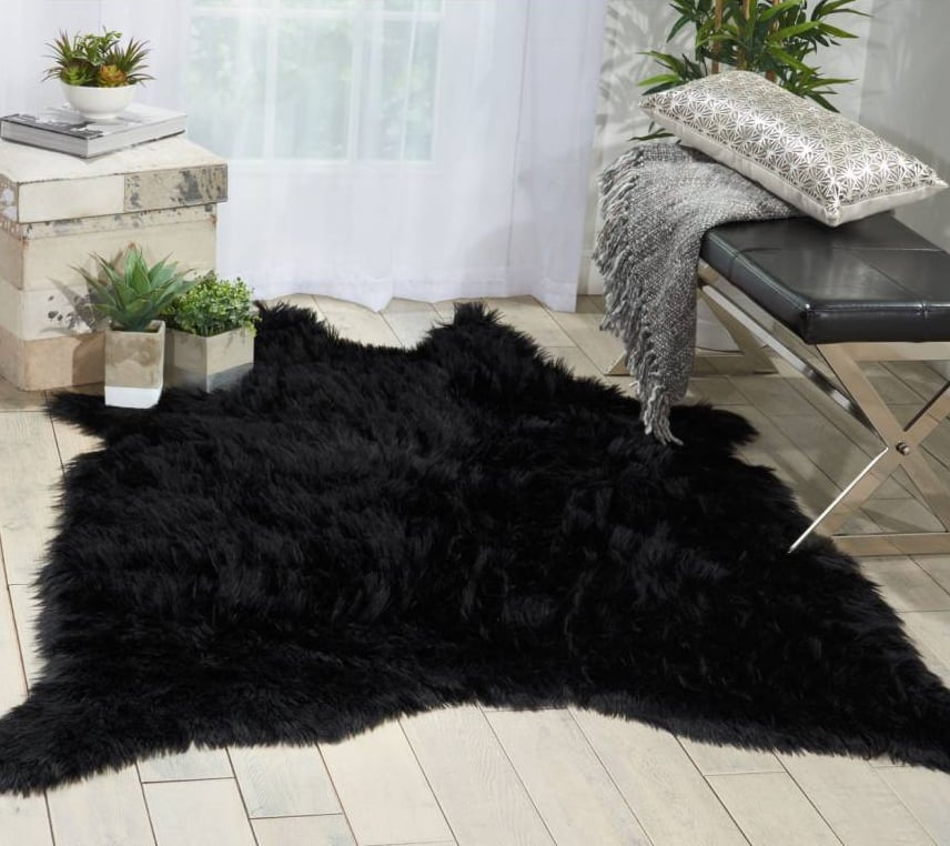 mina victory faux fur freeform rug faux fur rugs popsugar home photo 1 - Faux Fur Rugs