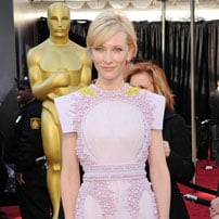 Cate Blanchett in lilac Givenchy Oscars 2011
