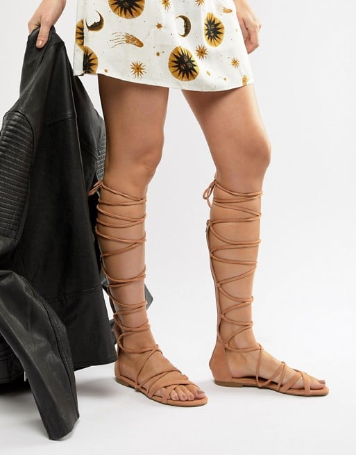 ASOS Raid Stone High Leg Gladiator Sandals