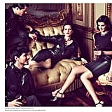 We imagine Loewe's Fall ad thought process here was: how to wear refined black ensembles, five ways.