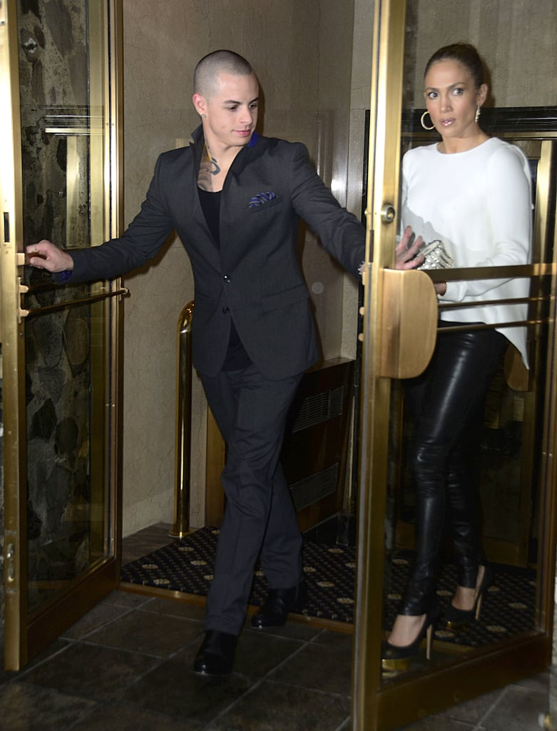 Jennifer Lopez and Casper Smart held hands after dinner in NYC.