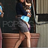 Katie Holmes and Suri Cruise leave NYC.