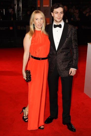 Pictures of Aaron Johnson and Sam Taylor-Wood on BAFTAs Red Carpet 2011