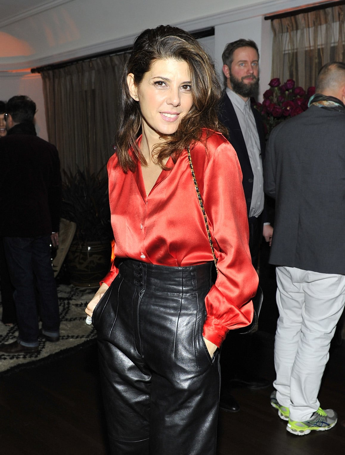 Marisa Tomei channeled The Wolf of Wall Street.