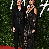 Julien Macdonald and Nicole Scherzinger at the British Fashion Awards 2019