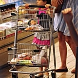 Suri Cruise pushed the cart at Whole Foods in NYC.