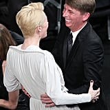 Tilda Swinton and Jack McBrayer