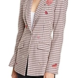 Taylor Swift's Cinq à Sept Estelle Check Embroidered Blazer