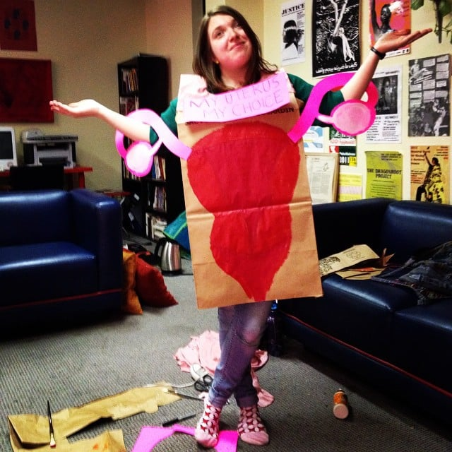 Feminist halloween costumes popsugar australia love sex another version of the easy diy uterus costume thats most likely quite the conversation starter solutioingenieria Image collections