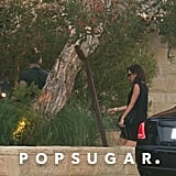 Victoria Beckham Black Dress in Malibu July 2016