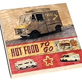 This rustic food truck print ($140) on a handmade birch box is unexpected and would look great hanging in the kitchen.