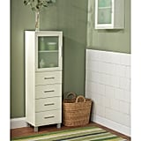 Frosted Pane 4-Drawer Linen Cabinet