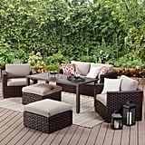 Patio Loveseat With Beige Cushions