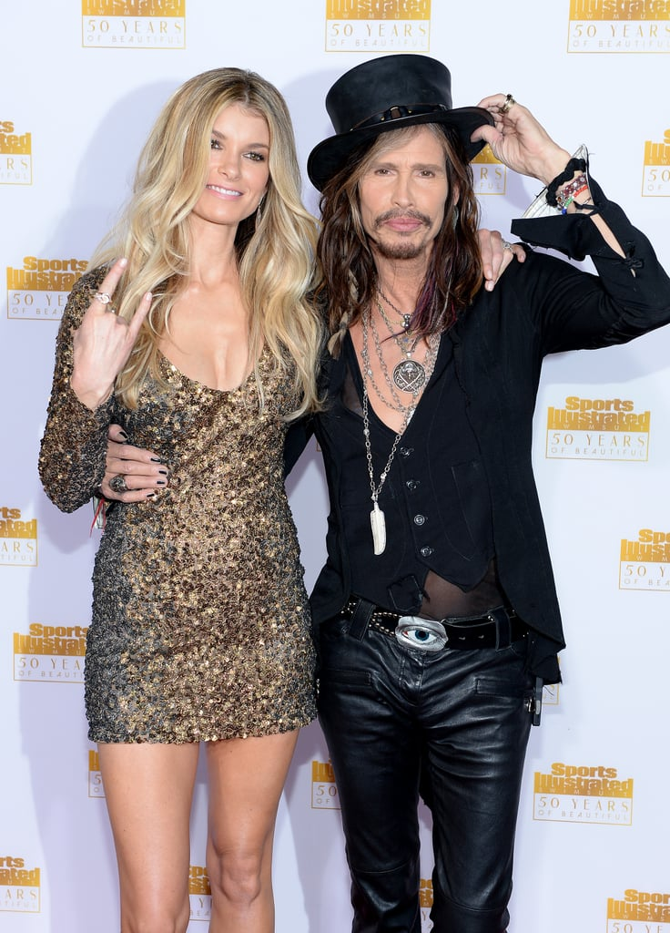 Marisa Miller joked around with Steven Tyler.