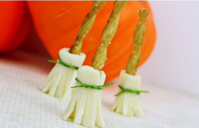Witch Broom Pretzels and Cheese