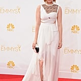 Will it be flowy yet edgy like her J. Mendel gown from the 2017 Emmys?