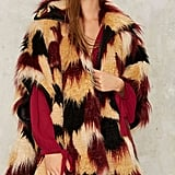 The Standout Patchwork Furry Coat