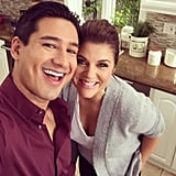 "In November 2014, Mario snapped a selfie with Tiffani Thiessen when he appeared on her Cooking Channel show, Dinner at Tiffani's. He tweeted their cute photo, writing, ""Loved catching up with my girl!"""