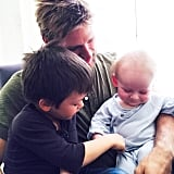 Lindsay Price shared a sweet photo of Curtis Stone and their boys, Hudson and Emerson.