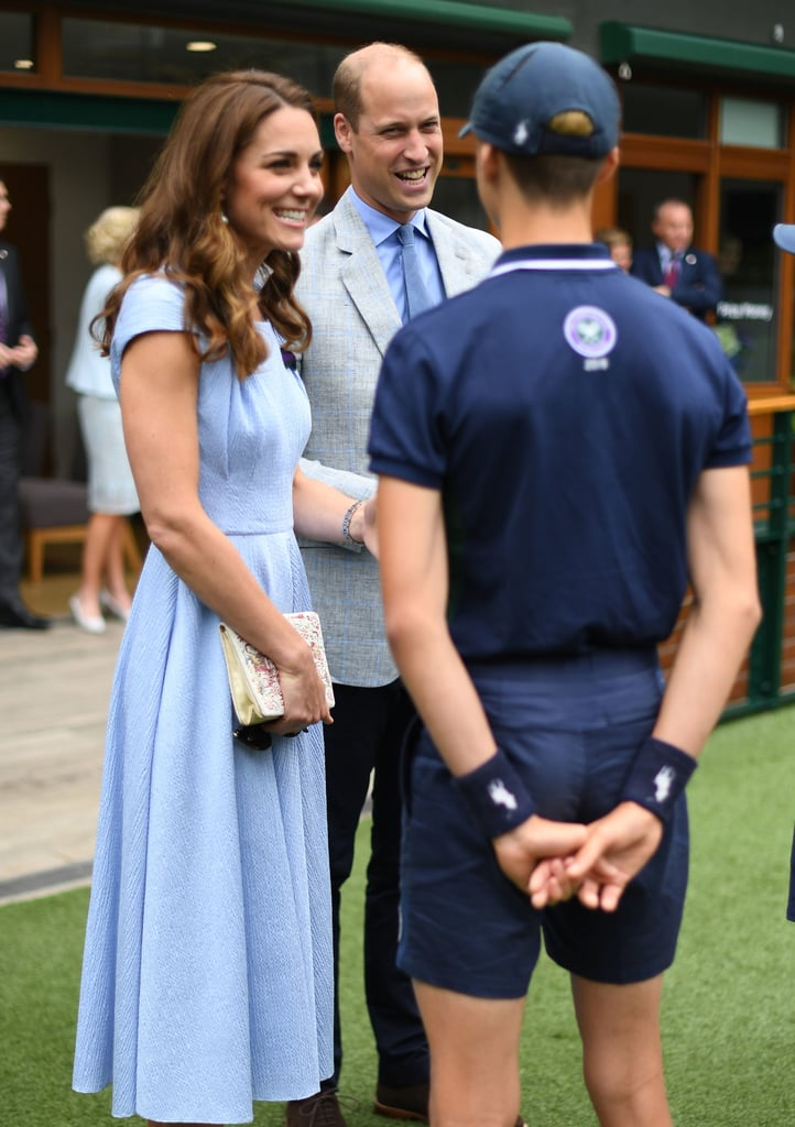 Kate Middleton and Prince William at the Wimbledon Final 2019