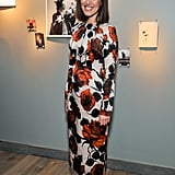 Emilia Wickstead showed her flower power at the Harper's Bazaar event at Moretti Fine Art.