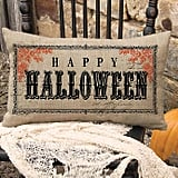"Heritage Lace Vintage ""Happy Halloween"" Oblong Throw Pillow"