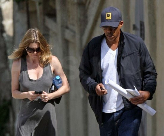 Photo Slide of Pregnant Ellen Pompeo and Chris Ivery Walking in LA