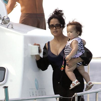 Salma Hayek and Valentina Pinault On a Yacht in Ibiza